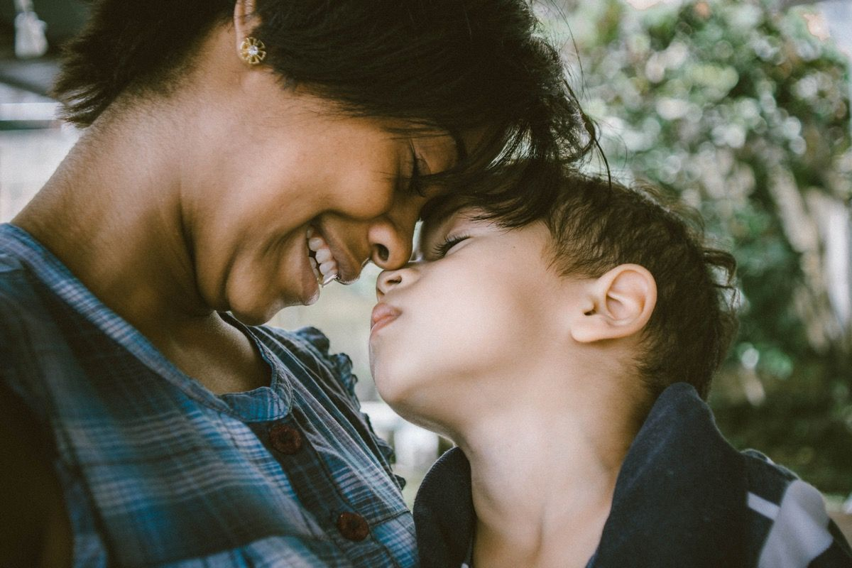 Image of woman nose to nose with child for a compounding pharmacy site in Dayton, Ohio.